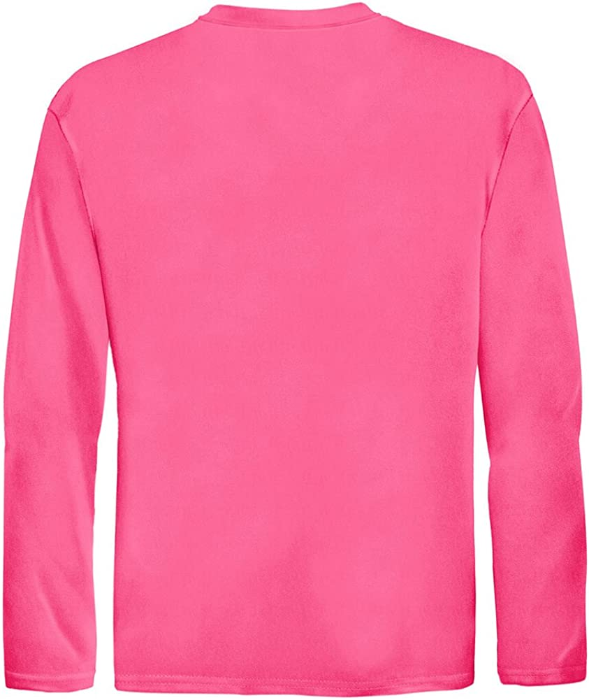 DRI-Equip Youth Long Sleeve Moisture Wicking Athletic Shirts. Youth Sizes XS-XL: Clothing