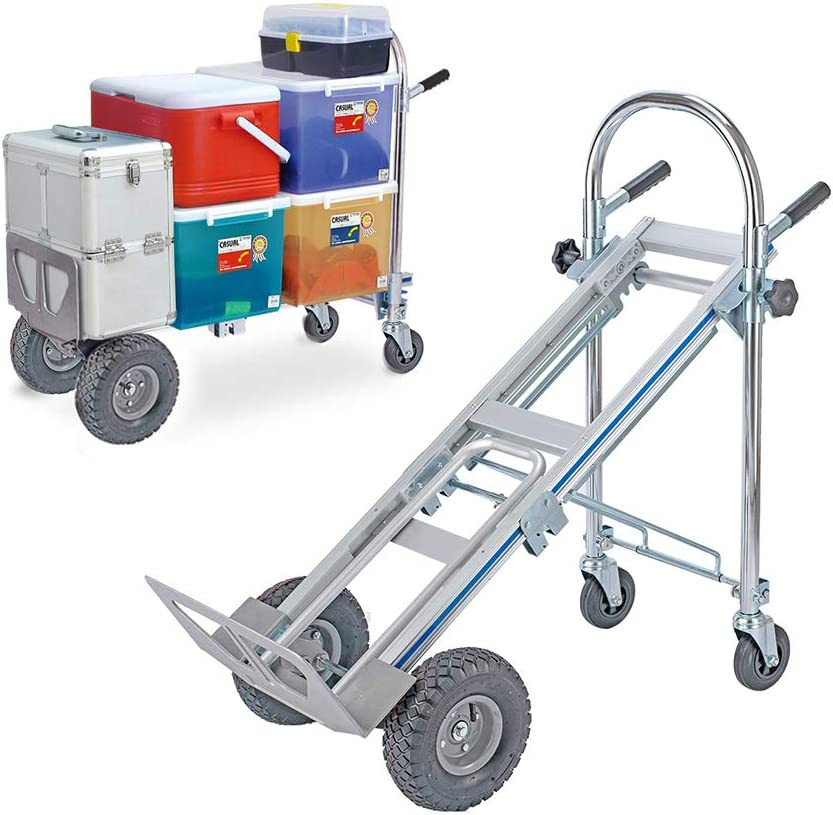 Goujxcy Hand Truck 3 in 1 Heavy Las Vegas Fashion Mall Folding Convertible Duty Dolly