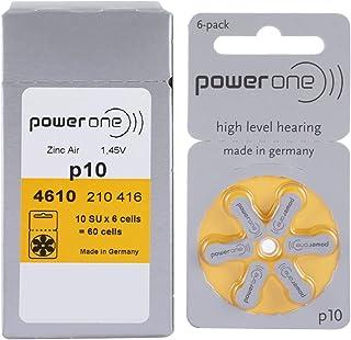 بطاريات الزنك-الهواء 10 للمعينات السمعية من باور وان، 10 حزمات
