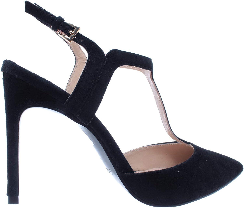 Liu Jo Damen Pumps Schuhe Lola 15 Decollete Wildleder Schwarz