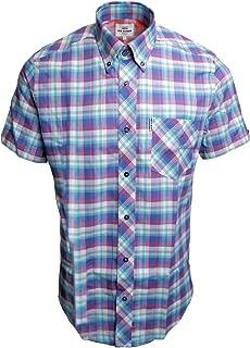 Ben Sherman Mens Ombre Check Short Sleeve Shirt