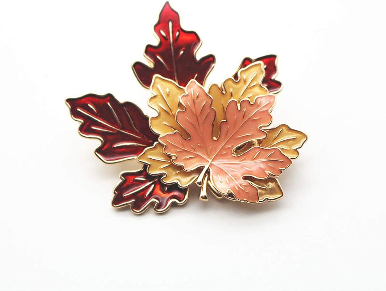 BinaryABC Thanksgiving Brooch Pin,Autumn Fall Leaves Brooch Pin,Maple Leaf Lapel Pin, Thanksgiving Jewelry Accessory Gifts Decoration