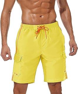 TACVASEN Men's Swim Trunks with Multi-Pockets Quick Dry Summer Beach Swimming Shorts