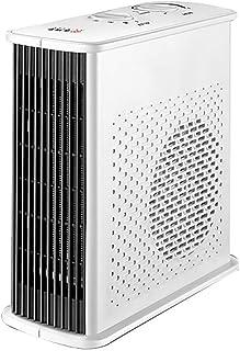 Silence Calentador Calefacción Auxiliar Personal del radiador Calefactor eléctrico, protección de Alta Temperatura, Vertical y Horizontal, Turbo Ventilador, Control mecánico (Color : White)