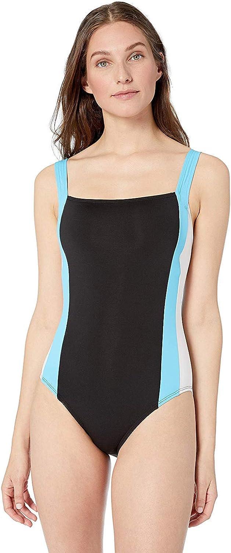 Nautica Women's Over The Shoulder Bandeau One Piece Swimsuit