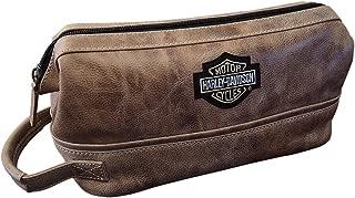 Harley Davidson Men's Leather Toiletry Kit, Palomino