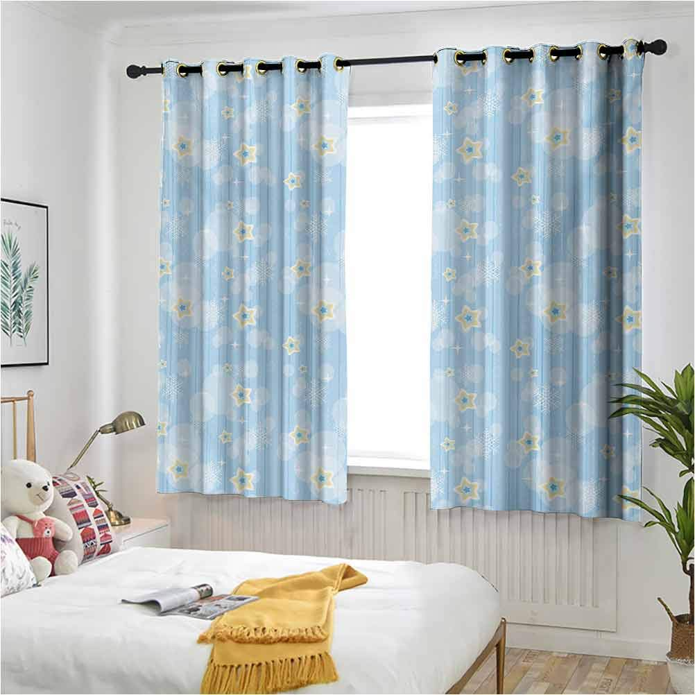 Winter High material Drapes for Baby Outstanding Nursery Night Pattern Kids Cute Sky