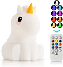 LED Nursery Night Lights for Kids -USB Rechargeable Animal Silicone Lamps with Touch Sensor and Remote Control -Portable C...
