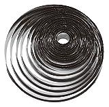 Paderno 47316-20 Tagliapasta ad anello – Set di 20 Coppapasta rotondi in acciaio inox, ideali in pasticceria e per impiattamenti creativi, 2,5 cm di altezza, misure assortite, diametro max 20 cm