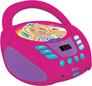 Lexibook Barbie Radio CD Player, Microphone, aux-in Jack, AC or Battery-Operated, Pink, RCD108BB_10
