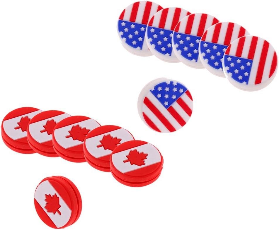 12pcs Premium Max 76% OFF High quality Silicone American Canada Flag Tennis Vibration D