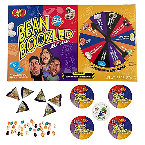 Jelly Belly BeanBoozled Jumbo Spinner Gift Box (5th Edition) - 12.6 oz Jelly Bean Game - Fun for the Whole Family | Four Bean Boozled Stickers | One Thank you Sticker from Nuvaani