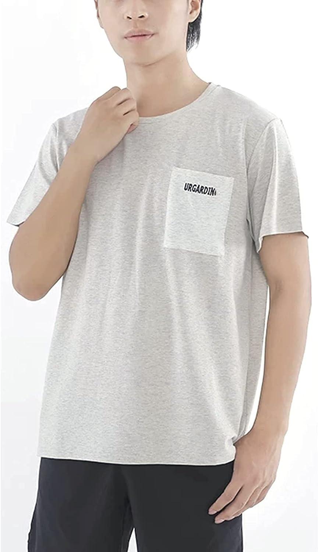 MOZHANG EMF/RF Camisetas de blindaje de Hombres, Ropa de protección contra radiación, 5G, 4G, WiFi, celda, Bluetooth, RFID, EMF Blindaje de radiación (Color : Grey, Size : S)
