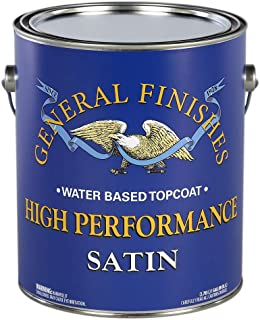 General Finishes High Performance Water Based Topcoat, 1 gallon, Satin