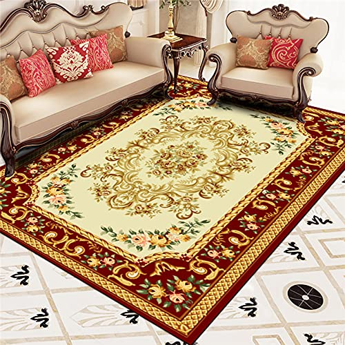 ZAZN European Style Carpet Home Living Room Sofa Coffee Table Cushion Rectangular Bedside Carpet Non-Slip Wear-Resistant Material
