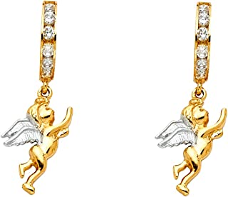 ALARRI 1 Carat 14K Solid Gold Faithful Amethyst Earrings