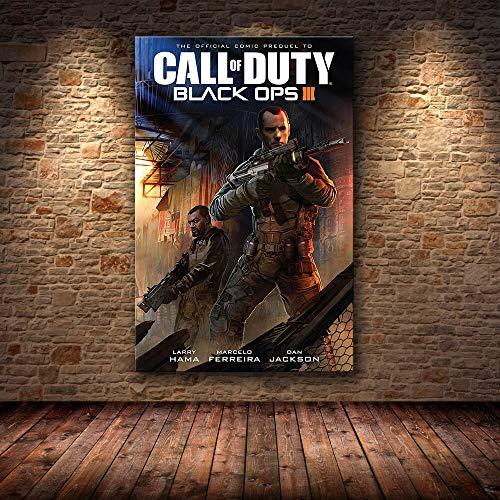 wanyouyinli Call of Duty Modern Warfare Wandkunst Leinwand Poster Und Druck Leinwand Malerei Dekorative Bild Für Schlafzimmer Home Decor 50X70Cm