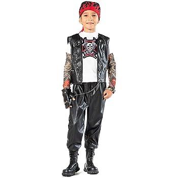 chiber Disfraces Disfraz de Motorista Rockero para Niño (Talla 7 ...