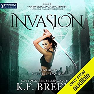 Invasion     The Warrior Chronicles, Book 4              Written by:                                                                                                                                 K. F. Breene                               Narrated by:                                                                                                                                 Caitlin Davies                      Length: 9 hrs and 7 mins     3 ratings     Overall 5.0