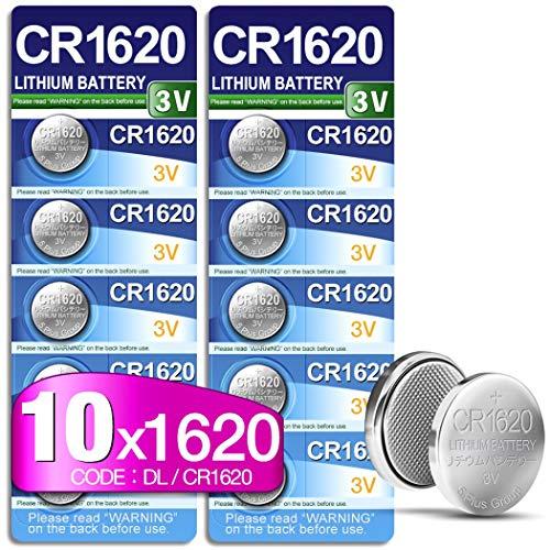 5Plus Group CR1620 CR 1620 Lithium-Batterie (3 V, 10 Stück) geeignet für den Einsatz in Schlüsselanhänger, Waagen, Spielzeug, LED-Leuchten, tragbaren und medizinischen Geräten usw.