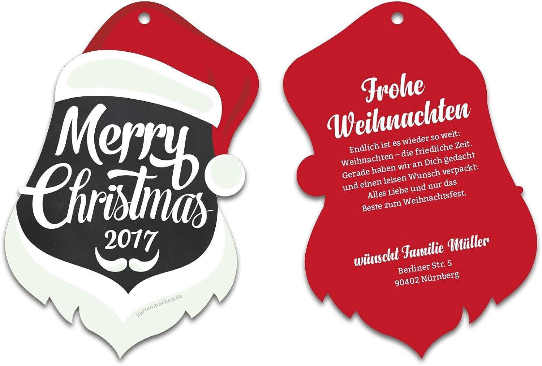 30 x Lasergeschnittene Weihnachtskarten Firmen Geschäftlich Business Grußkarten Weihnachten Weihnachten Weihnachten - Weihnachtsmann B075ZJXFHZ  | Schön und charmant  c1f0ce