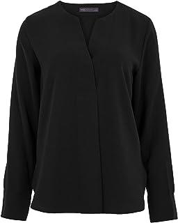 Marks & Spencer Women's Long Sleeve Popover Blouse, BLACK