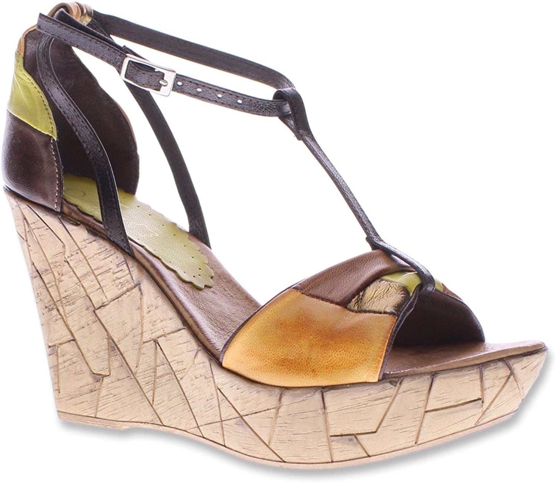 AZURA kvinnor Immix läder Open Toe Casual Casual Casual T - Strap Sandaler  varm