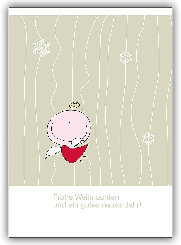 16 Weihnachtskarten (16er Set)  Weihnachtskarte mit mit mit Weihnachtsengel  Frohe Weihnachten und ein gutes neues Jahr  B00VQPNE7E | Deutschland Shops  ac6c1e