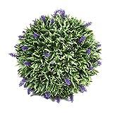 Vorcool - Bola de lavanda artificial de 30cm para decoración de plantas de interior y exterior para el hogar, bodas y fiestas
