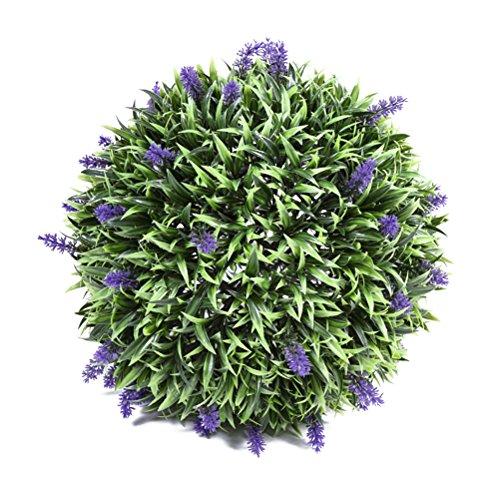 vorcool künstliche Lavendel-Kugel, 30 cm, gefrostet, Pflanzendekoration für drinnen und draußen, für Hochzeitsfeier