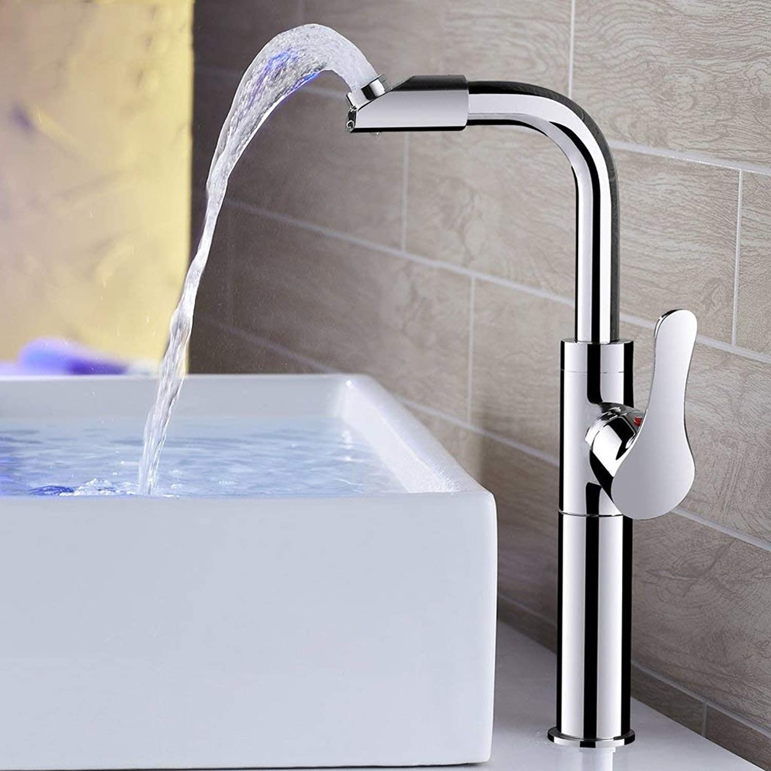 Kitchen Sink Taps ZQG Full copper body with high bathroom bathroom can be redated hand wash hot and cold basin faucet