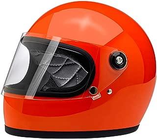Biltwell Inc. Gringo S Solid Helmet Gloss Hazard Orange (Orange, Medium)