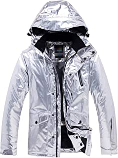 Silver Jackets with Hood Breathable Raincoat Mountain Hiking Walking Travelling Leisure Multi-Pockets Outdoor Jacket (Color : Silver, Size : L)