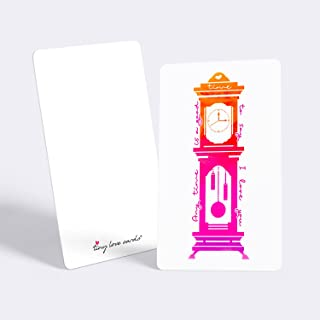 """Tiny Love Cards - Set of 85 Cute Mini Cards for ANY Occasion - 2"""" x 3.5"""", Small Blank Note Cards (Love Notes: Clock)"""