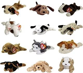 TY Beanie Babies - DOGS #1 (Set of 12)(Bernie, Bones, Fetch, Nanook, Spot, Spunky +6)(7.5-9 inch)