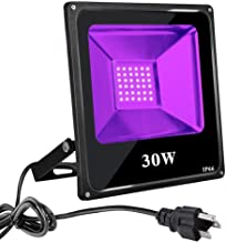 UV Black Lights for Parties, 30W UV Led Flood Light Blacklight Ultraviolet Lamp, for Fluorescent Neon Glow in The Dark, Halloween Christmas Decorations, DJ Disco Dance Stage Night Club, Body Paint