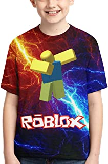Roblox Shirts Boys T-Shirts, Teens Novelty Tops Fashion Youth Funny Tee Shirts, Crewneck T-Shirt for Kids/Girls/Boys