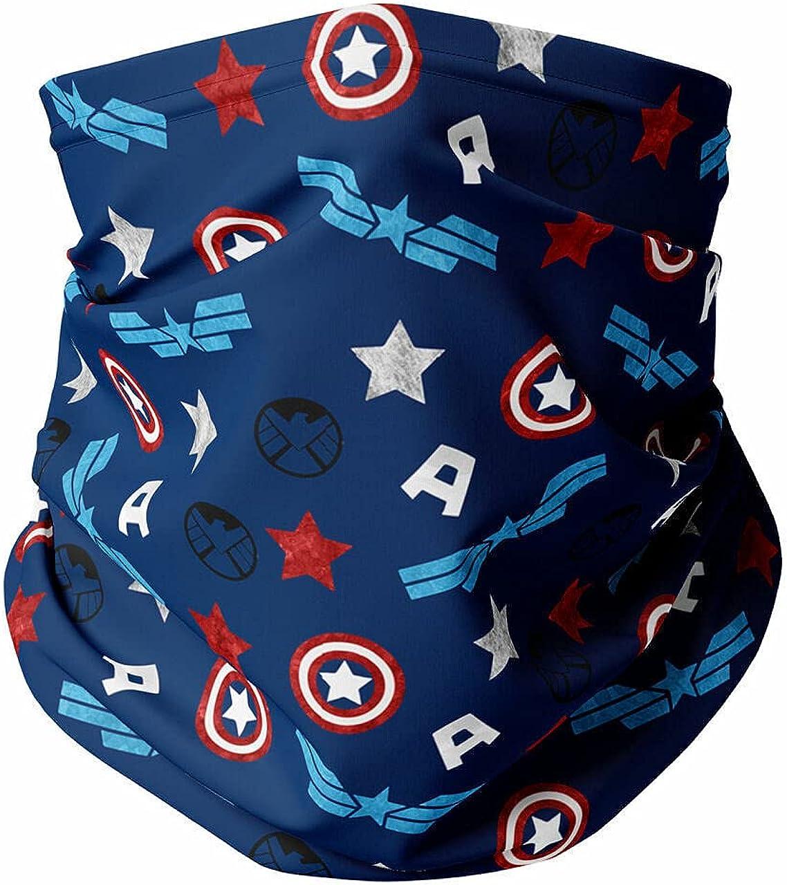 Neck Gaiter Face Covering - American Superhero
