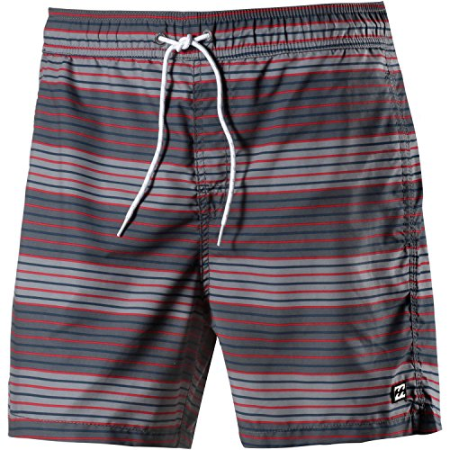 G.S.M. Europe - Billabong Geo Lay - Bermuda da Uomo, Dimensioni: 40,6 cm, Uomo, Boardshorts all Day Geo Lay. 16 Zoll, Red - Char, S