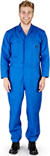 Mens Long Sleeve Basic Blended Work Coverall Includes Big & Tall Sizes - Order 1 Size Bigger