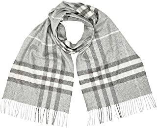 Womens Giant Classic Check Cashmere Fringe Rectangle Scarf