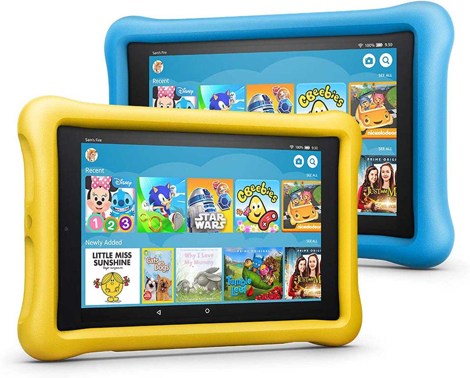 Fire HD 8 Kids Edition Tablet Variety Pack, 8  HD Display, 32 GB, (bluee Yellow) KidProof Case