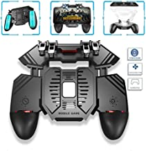 AK77 Sixth Generation 4 Triggers [6 Finger Operation] Mobile Game Controller Shooter Trigger Cooling Fan Power Bank Game Joystick 3 In1 for 4-6.5