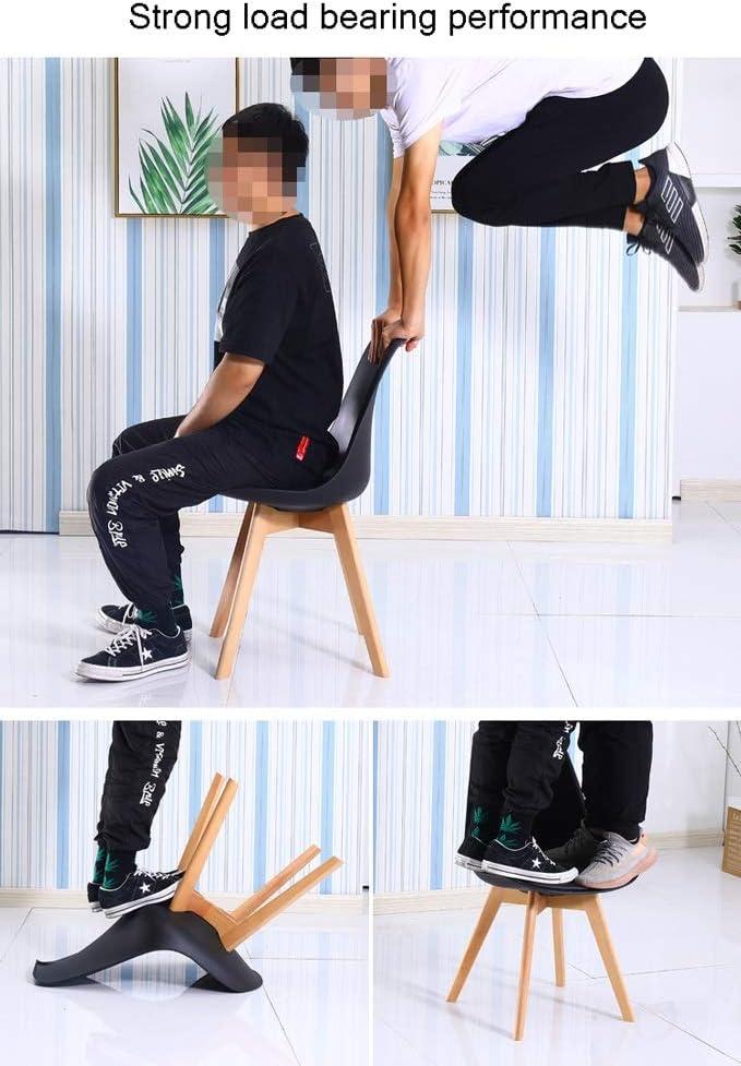 Chaise salle à manger, cuisine Accueil Table Chaise Chaise Ordinateur PU Coussin en cuir bar Chaise réception Chaise longue avec dossier (Color : Yellow) Orange