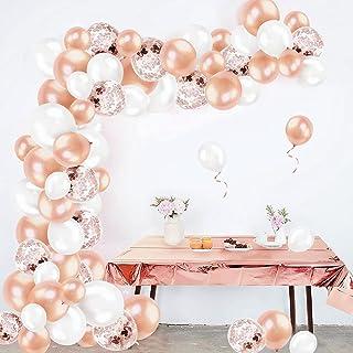 Humairc Arche Ballon Rose Gold avec Nappe Rectangulaire avec Arche kit Rosegold, Arche Ballon Anniversaire Fille - Ballon ...