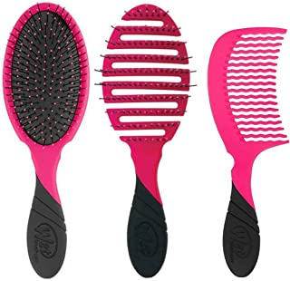 Wet Brush Pro Original Detangler - Flex Dry - Comb Trio. Bundle Includes: 1 Original Detangler Brush, 1 Flex-Dry Blow Dryi...