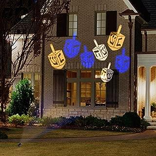 Gemmy Lightshow Hanukkah Whirl-A-Motion LED Projection Lights - Dreidel