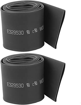 sourcingmap Diam/ètre 70mm 2:1 tube thermor/étractable polyol/éfine noir Tube thermor/étractable 3 pcs