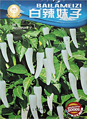 Graines Blanc Petit Hot Chilli Pepper, emballage d'origine, 250 graines / paquet, Heirloom Spicy Pepper KK004