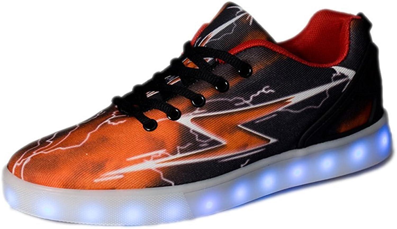 Sexphd Unisex Men Women 7 colors LED USB Rechargable Light Up shoes Flashing Sneakers